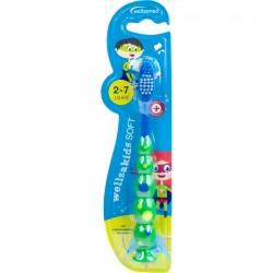 Wellsamed четка за зъби wellsakids Soft за деца от 2 до 7 год.