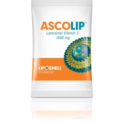 ASCOLIP®  Хранителна добавка  Липозомен Витамин С 1000 мг. 30 бр. сашета в кутия