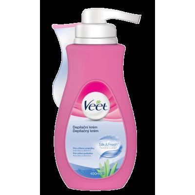 VEET крем за тяло за чувствителна кожа Silk & Fresh 400 ml