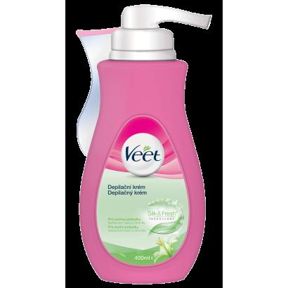 VEET крем за тяло за суха и нормална кожа Silk & Fresh 400 ml