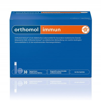 Orthomol Immun хранителна добавка 30 бр. кутия