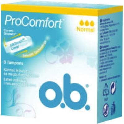 O.B. дамски тампони Pro comfort Normal 8 бр. кутия