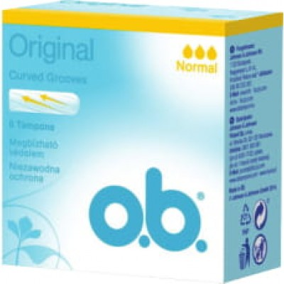 O.B. дамски тампони Normal 8 бр. кутия