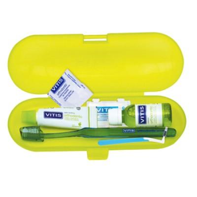 DENTAID комплект VITIS Orthodontic - четка+ паста 15ml+ вода 30ml + интердентална четка