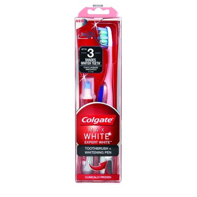 Colgate четка за зъби с избелваща писалка Max White One White блистер