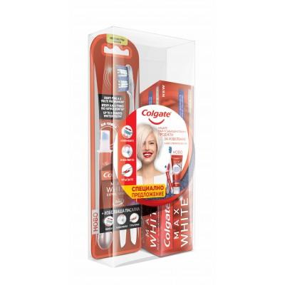Комплект паста за зъби Colgate Max White Expert Complete + четка за зъби с избелваща писалка Max White Expert White