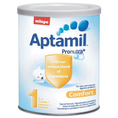 Aptamil Comfort 1 400g, 0-6m, за храносмилателни смущения