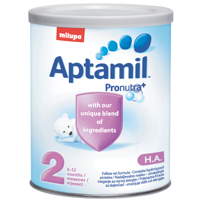 Aptamil НА 2 400g, 6m+, за профилактика на алергии