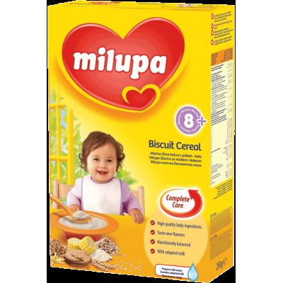 Milupa млечна каша с бисквити 250g, 8m+