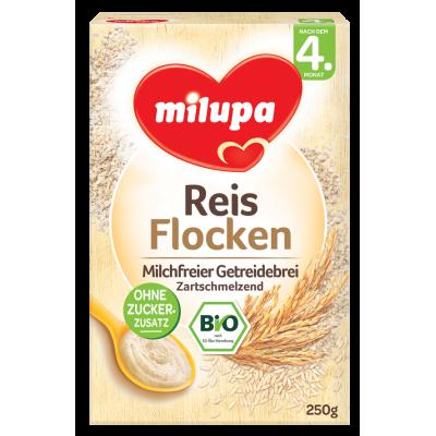 Milupa Био-безмлечна каша с ориз 250g, първи избор, 4m+