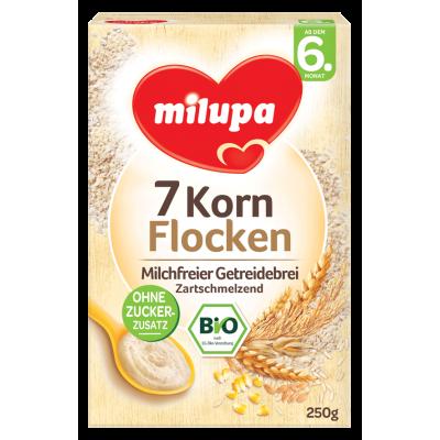 Milupa Био-безмлечна каша 7-зърнена 250g, 6m+