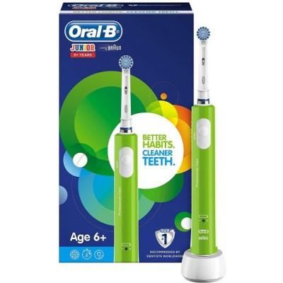 Oral-B ел. четка за зъби със зарядно за деца Junior 6+ зелена