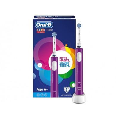 Oral-B ел. четка за зъби със зарядно за деца Junior 6+ лилава