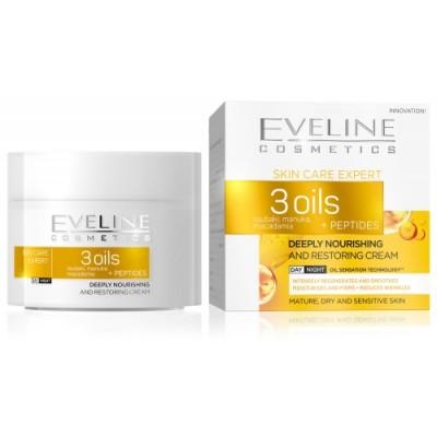 Eveline SCE дн/нощ крем 3 олиа+пептиди, 50 мл