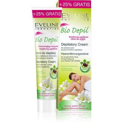 Eveline био депилаторен крем с кестен /кожа с напукани капиляри/ 125 мл