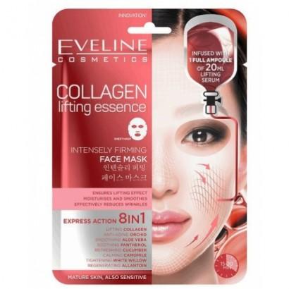 """Eveline корейска """"sheet"""" маска за лице с колаген, 20 мл серум"""