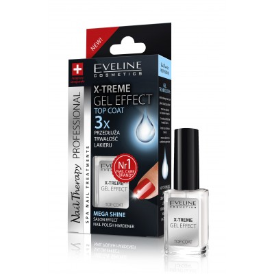Eveline nails x-treme gel effect топ лак, 12 мл