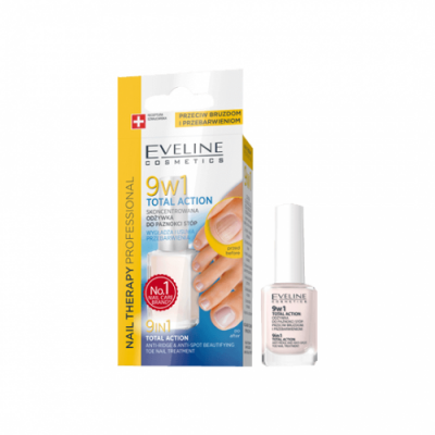 Eveline Foot nails therapy интенз. Заздравител total action 9в1, 12 мл