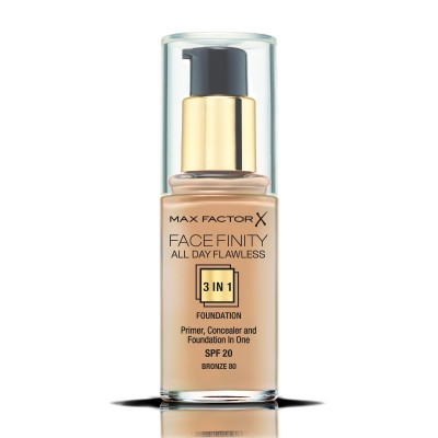 Max Factor фон дьо тен FACEFINITY ALL DAY FLAWLESS 3IN1 BRONZE 80