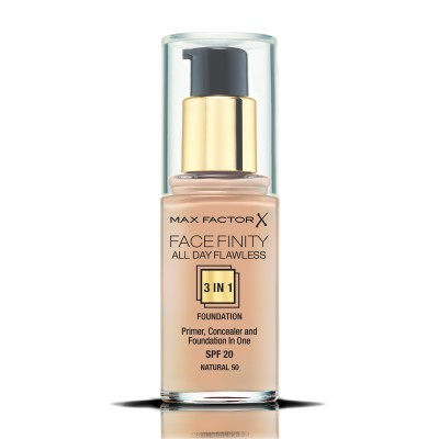 Max Factor фон дьо тен FACEFINITY ALL DAY FLAWLESS 3IN1 NATURAL 50