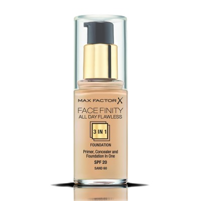 Max Factor фон дьо тен FACEFINITY ALL DAY FLAWLESS 3IN1 SAND 60