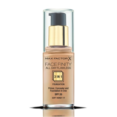 Max Factor фон дьо тен FACEFINITY ALL DAY FLAWLESS 3IN1 SOFT HONEY 77