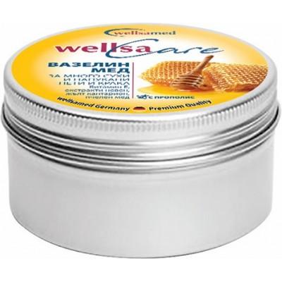WellsaCare Крем-вазелин с мед за много сухи напукани пети и крака, 50 мл.