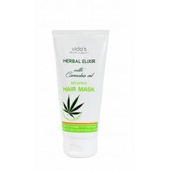 Vido's Health & Beauty Herbal Elixir възстановяваща маска за коса с масло от канабис